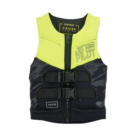 2019 Jetpilot The Cause F/E Kids Neo Vest - Yellow Level 50