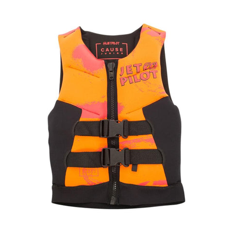 2020 Jetpilot The Cause F/E Kids Neo Vest - Orange Level 50