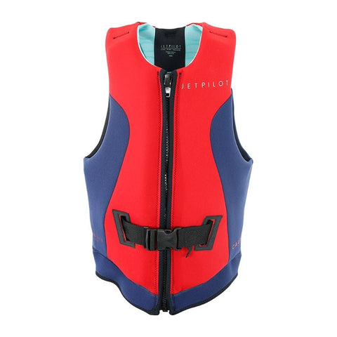 2020 Jetpilot Cause Reversible F/E Ladies Neo Vest - Teal/Red L50