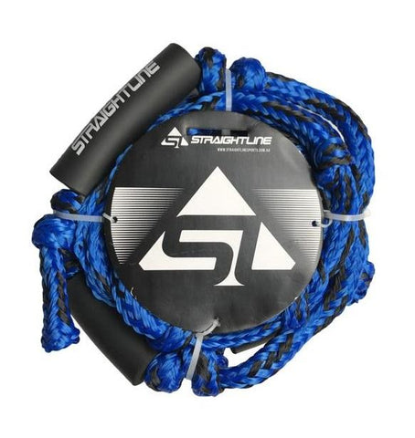 2021 Straightline Knotted Wake Surf Rope Blue