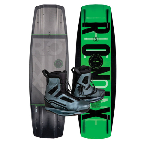 2019 Ronix One Time Bomb Core Wakeboard + One Grey Boots Package