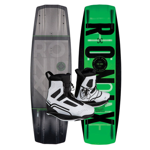 2019 Ronix One Time Bomb Core Wakeboard + One White Boots Package