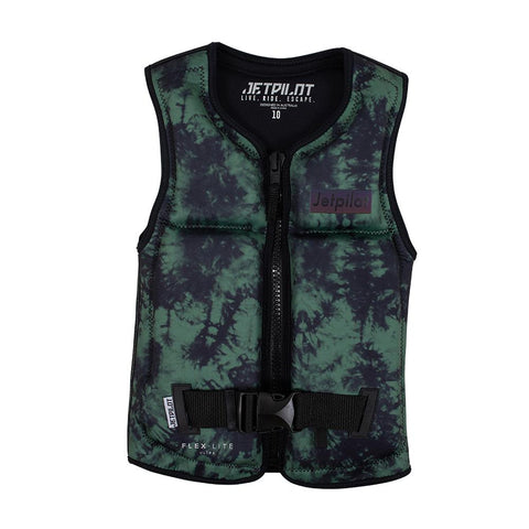 2021 Jetpilot Prime F/E Youth Neo Vest Boy - Military