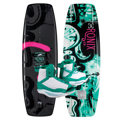 2019 Ronix Quarter 'Til Midnight Sf Wakeboard + Luxe Boots Package