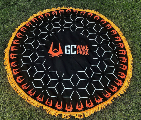 GC Wake Park Round Beach Towel