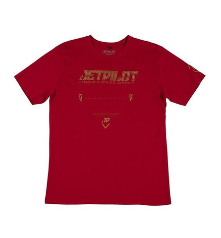 2021 Jetpilot Premium Mens Tee - Red
