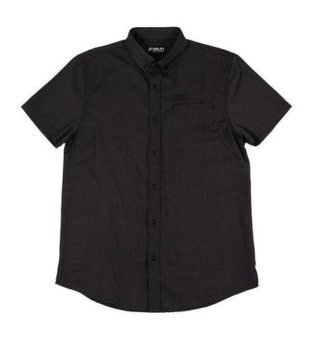 2021 Jetpilot Button Up Mens S/S Shirt - Black