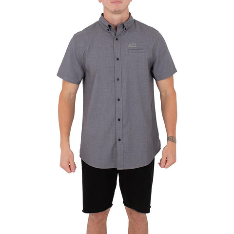 2021 Jetpilot Button Up Mens S/S Shirt - Charcoal