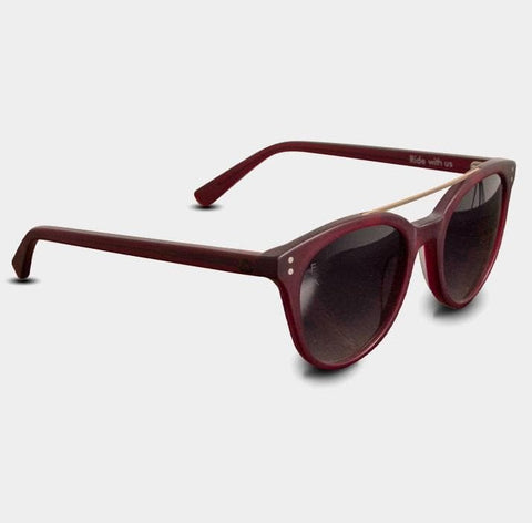 2021 Follow Follow Barred Sunnies - Maroon