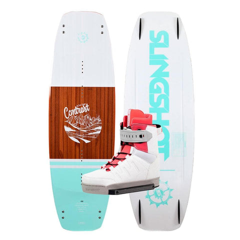 2019 Slingshot Contrast Wakeboard + Jewel Boots Package