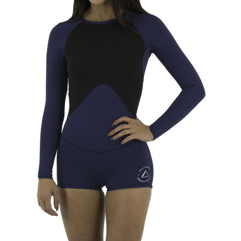 2021 Follow Ladies Lycra L/S Springy - Navy/Black
