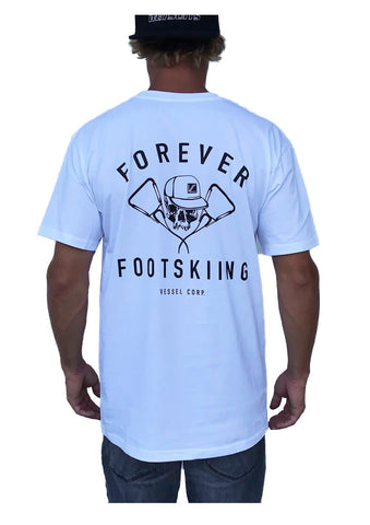 Vessel Corp Forever Footskiing Tee - White