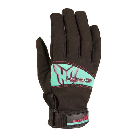 2018 HO Womens Pro Grip Glove - Black/Teal