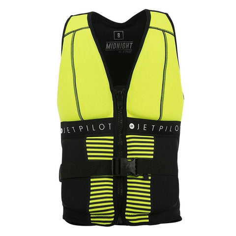 2019 Jetpilot Midnight Seg F/E Neo Vest - Yellow Level 50