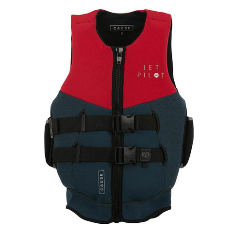 2019 Jetpilot Cause Seg F/E L50 Neo Vest - Red Level 50