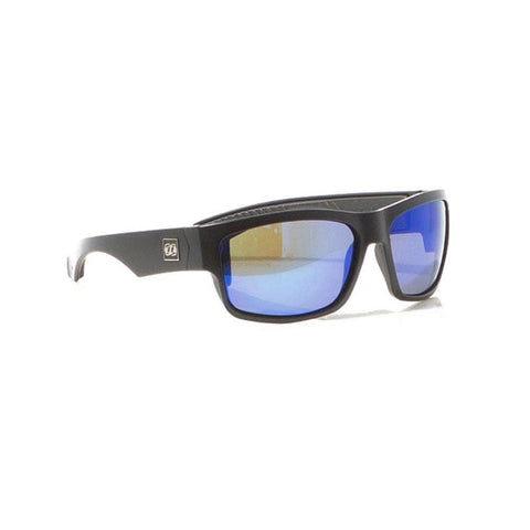2018 Jetpilot Matrix Ride Polarized Sunnies - Matte Black/Blue/Mirror