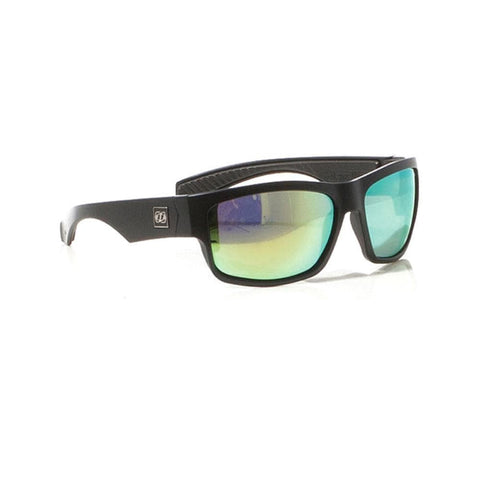 2018 Jetpilot Matrix Ride Polarized Sunnies - Matte Black/yellow/Mirror
