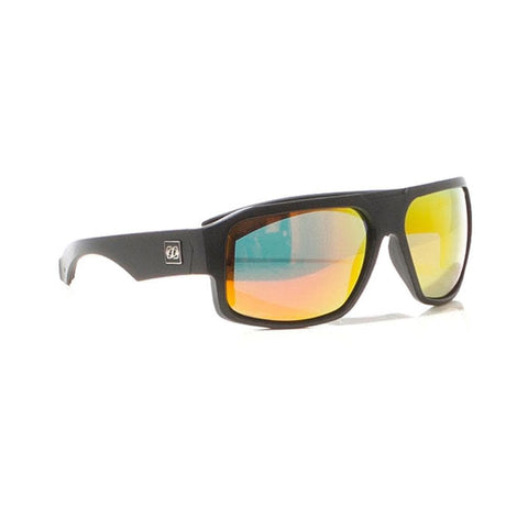 2018 Jetpilot Strike Polarized Sunnies - Matte Black/Red/Mirror