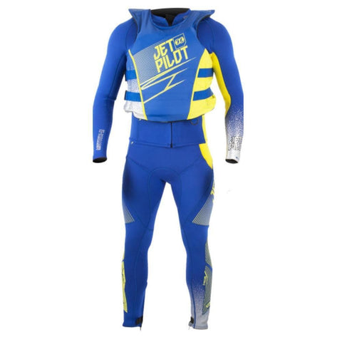 2018 Jetpilot Matrix 3 Race Suit And Vest - Navy/Lime