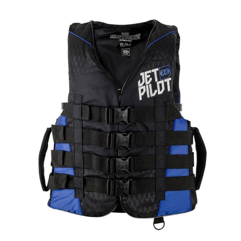 2018 Jetpilot Strike F/E Nylon Vest - Black/Blue