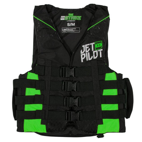 2018 Jetpilot Strike F/E Nylon Vest - Black/Green