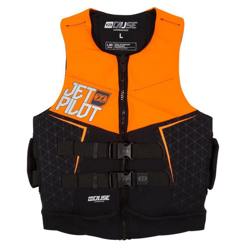 2018 Jetpilot The Cause L50 F/E Neo Vest - Orange Level 50