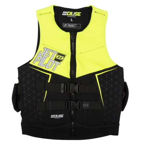 2018 Jetpilot The Cause L50 F/E Neo Vest - Yellow Level 50