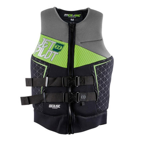 2018 Jetpilot The Cause L50S F/E Neo Vest - Charcoal/Lime