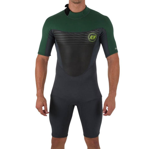 2018 Jetpilot The Cause 2Mm S/S Springsuit - Charcoal/Green