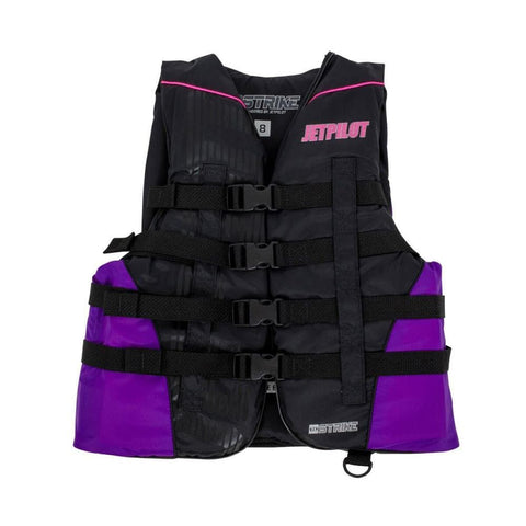2018 Jetpilot Strike Nylon Ladies Vest - Black/Purple
