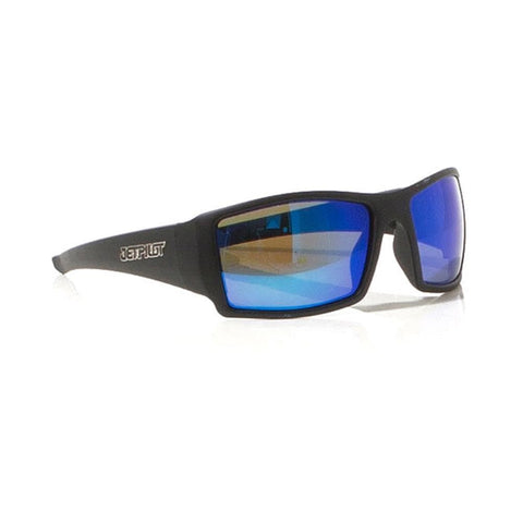 2018 Jetpilot Nitro 2 Ride Polarized Sunnies - Matte Black/Blue/Mirror
