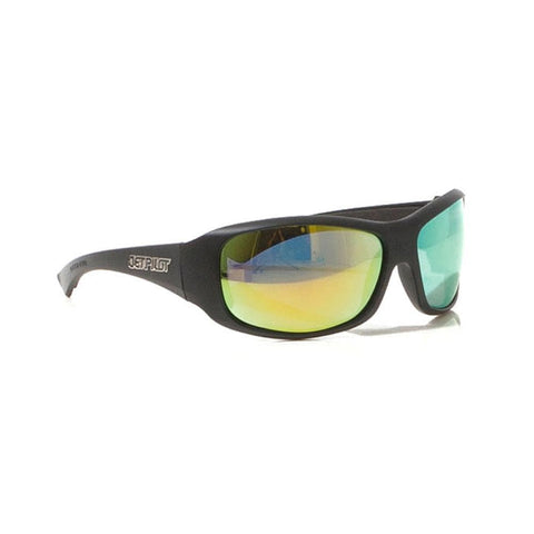 2018 Jetpilot Nomad Ride Polarlzed Sunnies - Matte Black/Yellow/Mirror