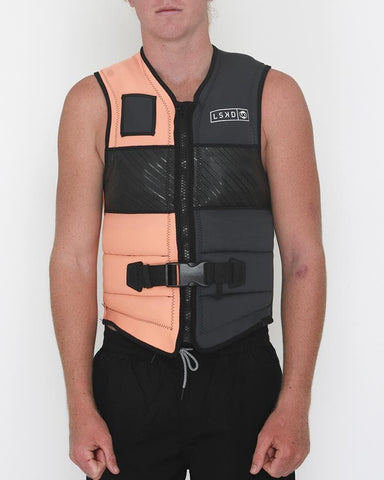 2019 LKI Flow Vest - Charcoal-Peach