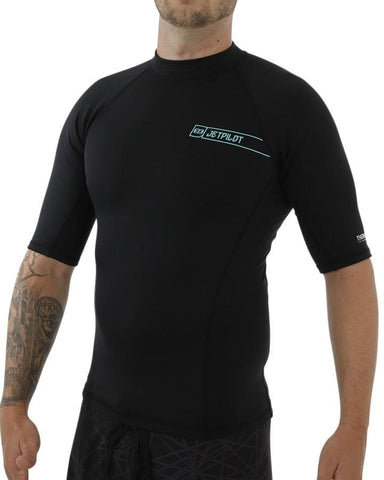 2018 Jetpilot F-15 Therma Fleece Short Sleeve Rashie - Black