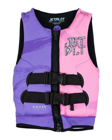 2021 Jetpilot The Cause F/E Youth Neo Vest - Pink/Purple