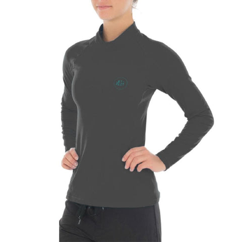 2018 Jetpilot Allure Therma Fleece Rashie - Charcoal