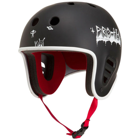 Pro-Tec x Wes Jacobsen Full Cut Water w/ Clip (Black) Wakeboard Helmet