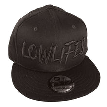 Load image into Gallery viewer, Hat - New Era - Lowlifes2 Blk/Blk