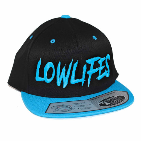 Hat - Snapback - Low2 Blk/Teal