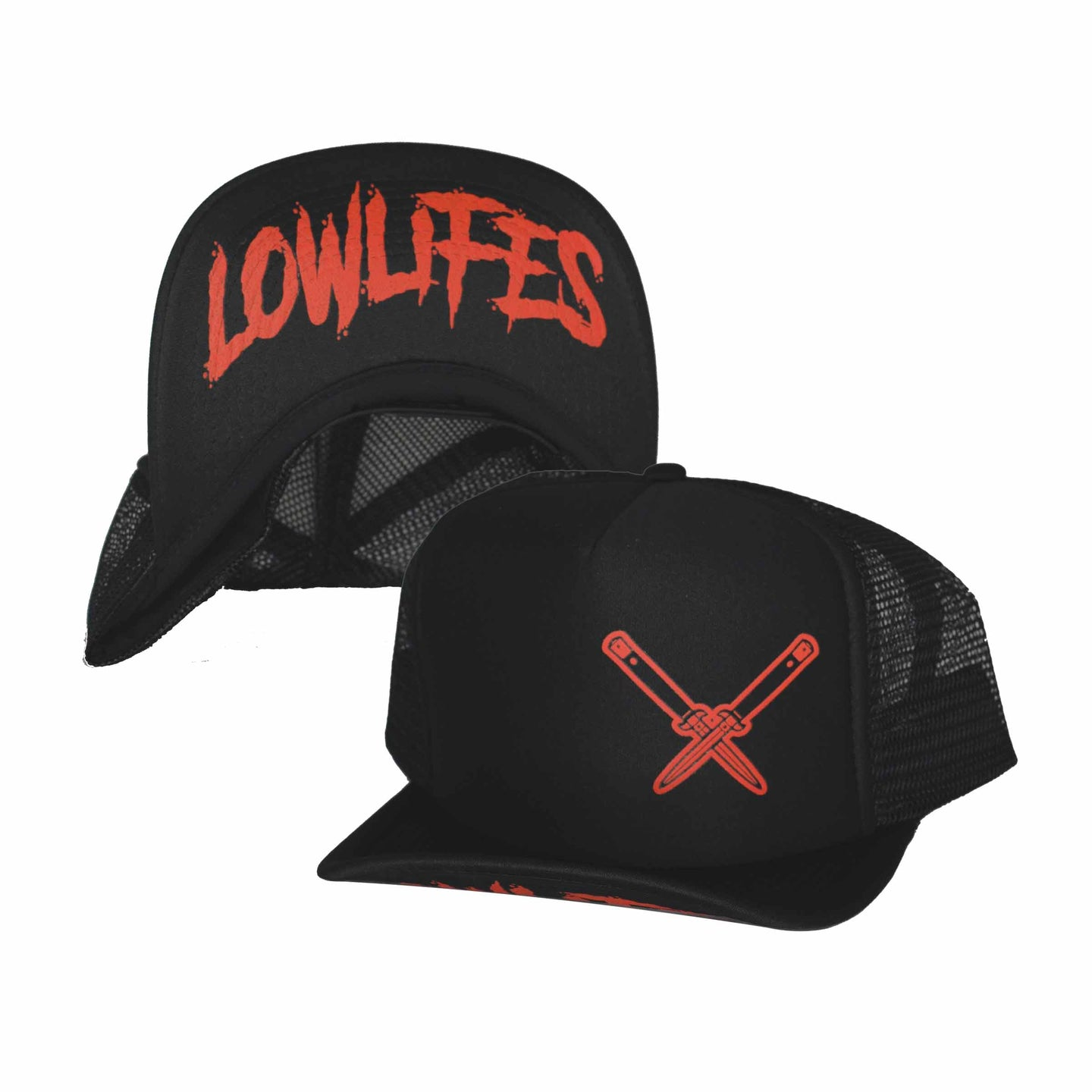 Hat - Trucker - Essential - Blk/Red