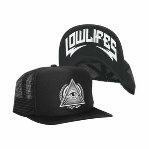 Hat - Trucker - Illuminati Wht