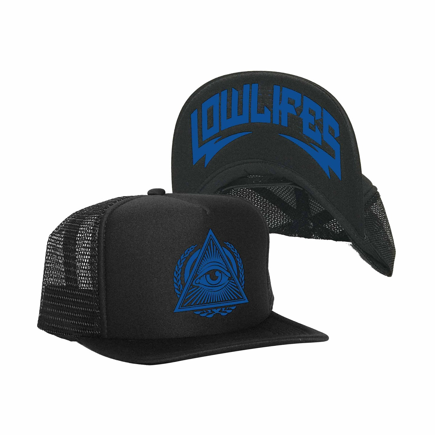 Hat - Trucker - Illuminati Blu