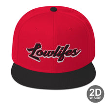 Load image into Gallery viewer, Hat - Snapback | Lowlifes - Cardinal R/B/B