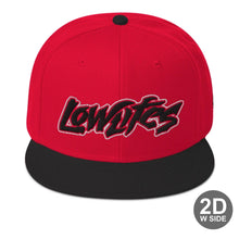 Load image into Gallery viewer, Hat - Snapback | Lowlifes - Jagged R/B/B