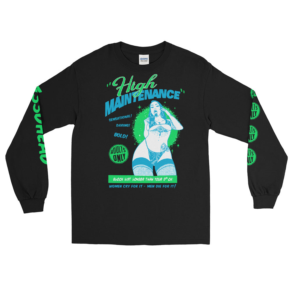 Shirt - Longsleeve: w33dhead - High Maintenance B/G
