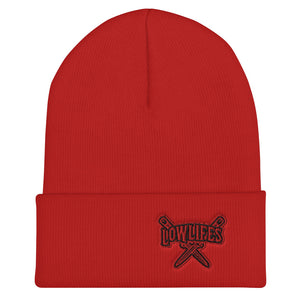 Beanie - Collared | Lowlifes - Knives Red