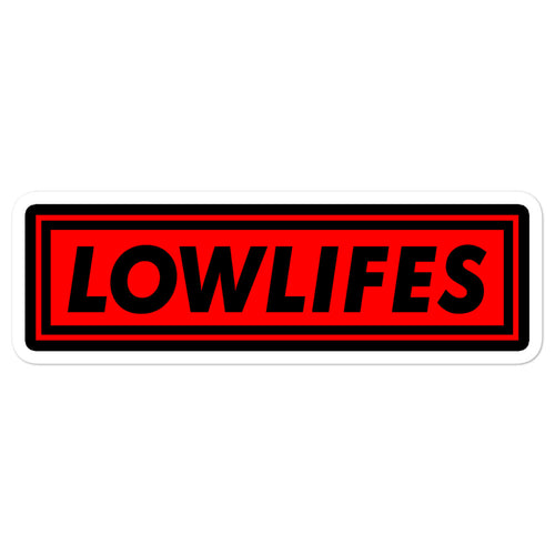 Sticker - Die Cut | Lowlifes - LowBar Red