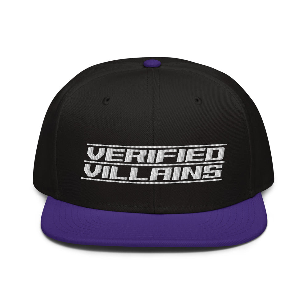 Hat - Snapback: Verified Villains - Logo B/P/W