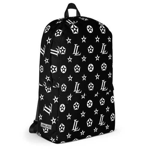 Backpack | Lowlifes - Pattern Blk/Wht