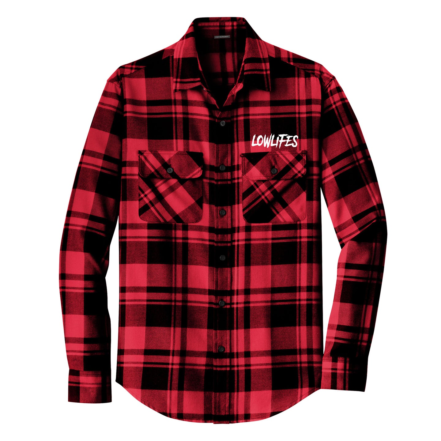 Shirt - Flannel | Lowlifes - Low2 Red
